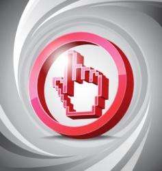 3D icon click vector image