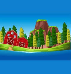 a nature rural house vector image