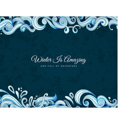abstract of waves vector image