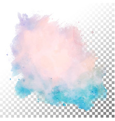Abstract watercolor blot vector