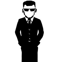 Agent figure stencil vector