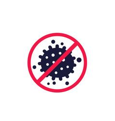 Antibacterial icon no bacteria sign vector