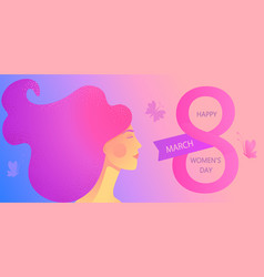 banner for international womens day vector image