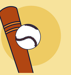 baseball sport bat vector image
