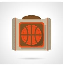 Basketball bag flat color design icon vector image