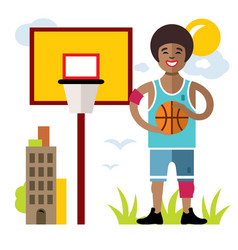 Basketball flat style colorful cartoon vector
