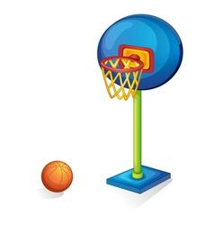 Basketball ring and ball vector