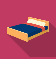 bed icon in flate style isolated on white vector image