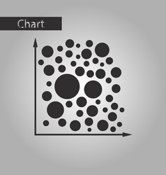 Black and white style icon geometric chart vector