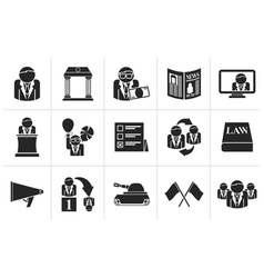 Black Politics election and political party icons vector