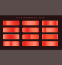 Bright red shiny gradients background vector