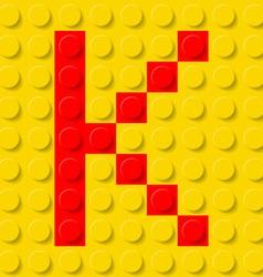 Building kit of plastic Font 11 vector