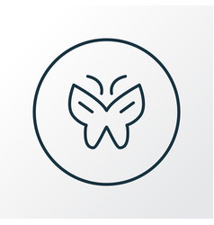 Butterfly icon line symbol premium quality vector