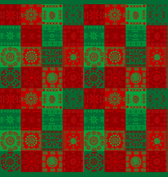 christmas background with ethnic motifs vector image
