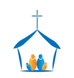church family together icon vector image