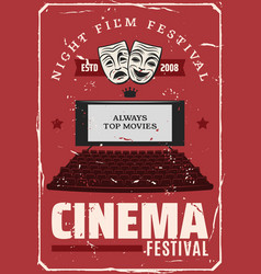 cinema movie festival theater screen vector image