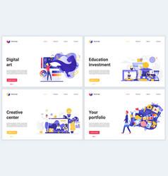 creative art agency education design vector image