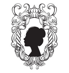 creative woman bautiful ypung profile in vector image