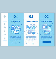 Crm subscription onboarding mobile web pages vector
