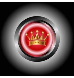 Crown Icon button vector