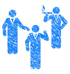 discuss standing persons grunge icon vector image