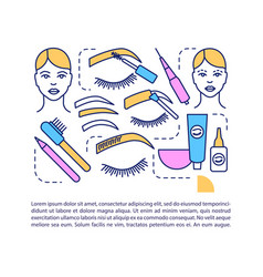 eyebrow tattoo article page template microblading vector image