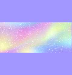 fairy glitter background magic fantasy cartoon vector image