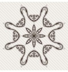 Filigree Flower Henna Pattern vector image