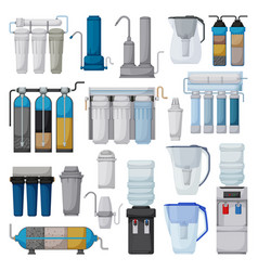 filtration system cartoon set icon vector image