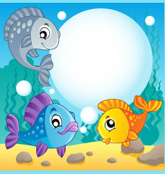 Fish theme image 2 vector