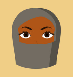 Flat icon on theme arabic business portrait of a vector