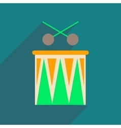 Flat web icon with long shadow carnival drums vector