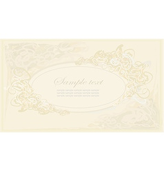 floral frame invitation card vector image