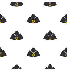 Forage cap pattern flat vector