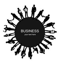 Frame with business people vector image