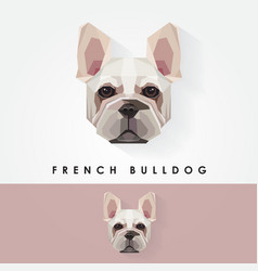 French bulldog head geometric polygonal logo icon vector