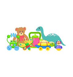 frog and butterfly toys set vector image