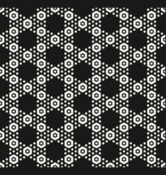 geometric hexagon seamless monochrome pattern vector image