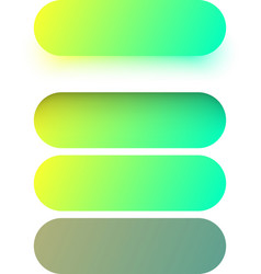 Green web button templates isolated on white vector