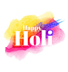 happy holi greeting background design vector image vector image