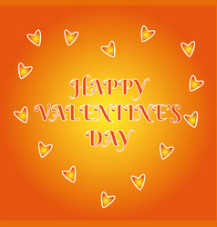 happy valentine day love heart design vector image