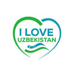 i love uzbekistan vector image