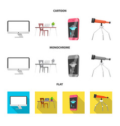 Isolated object of education and learning sign vector