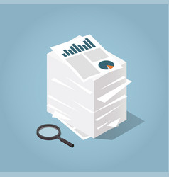 isometric stack of paper vector image