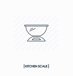kitchen scale outline icon isolated vector image