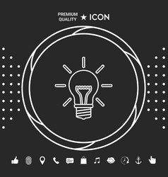 light bulb - new ideas line icon graphic vector image