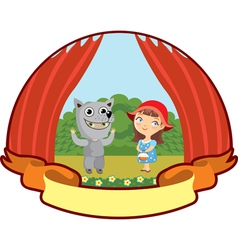 little red riding hood children teatr vector image