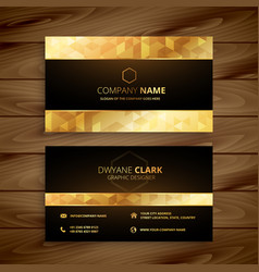luxury golden business card design vector image