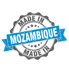 Made in mozambique round seal vector