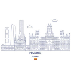 madrid city skyline vector image